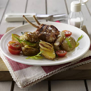 Lamb Chops with Warm Potato Salad.
