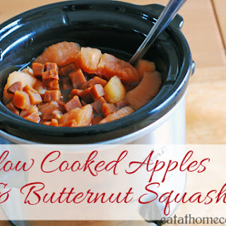 Slow Cooked Apples and Butternut Squash – Easy Side Dish.