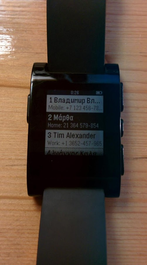Pebble Speed Dial- screenshot