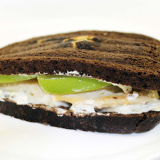 Pumpernickel Chicken Panini with Goat Cheese and Apples