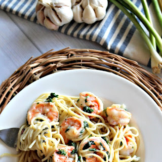 Pasta and Garlic Shrimp