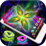 Neon Color Flower Theme