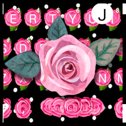 Luxury Pink Rose Keyboard Theme Icon