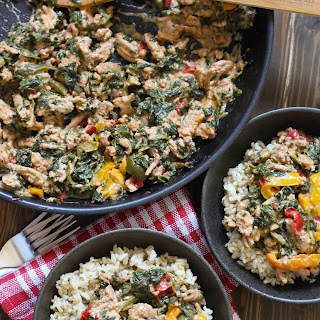 One-Pan Coconut Ground Turkey & Peppers.