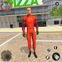 Flying Rope Hero Vice Town-Deadhero Gangster Games icon