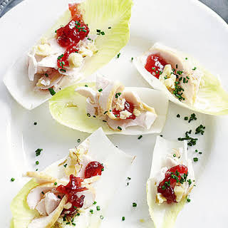 Smoked Chicken and Endive Canapés.