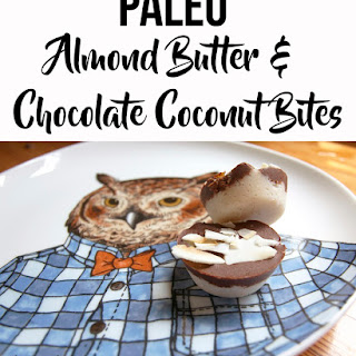Paleo Almond Butter and Chocolate Coconut Bites.