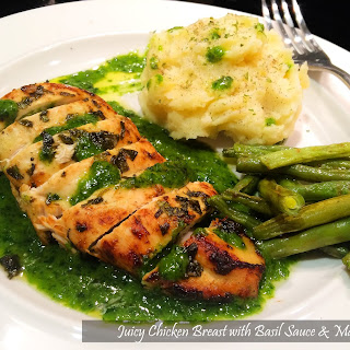 Juicy Chicken Breast with Basil Sauce
