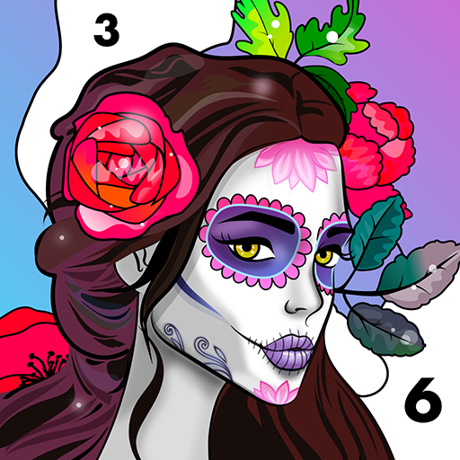 Relax Color: Coloring book by number for adults Icon