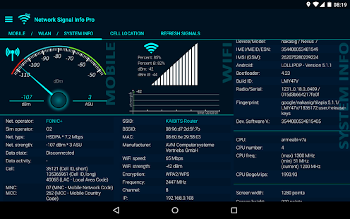 Network Signal Info- screenshot thumbnail