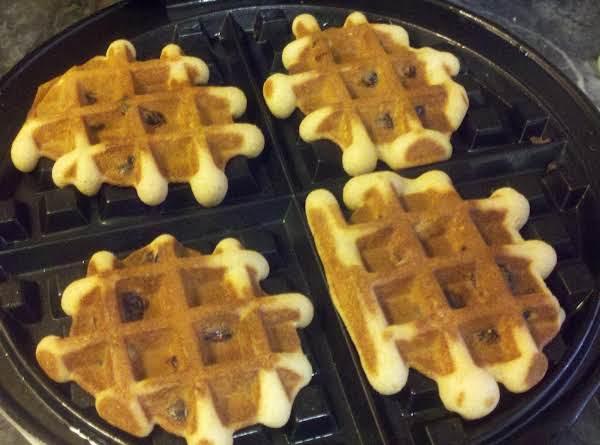 Honey Raisin Waffle Cookies