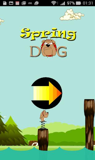 spring dog jump