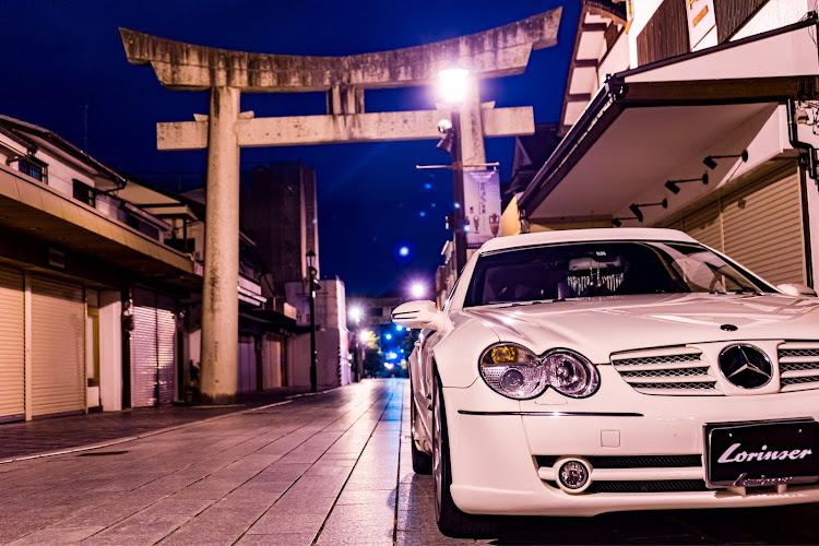 SL R230の福岡,ベンツ,ロリンザー,スターバックス,セピア風写真に関するカスタム&メンテナンスの投稿画像4枚目