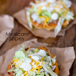 Mexican Sopes.