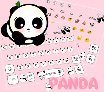 Download Cute Panda Keyboard Theme For PC Windows and Mac apk screenshot 3