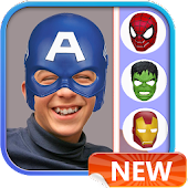 Superhero Mask Photo Stickers