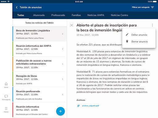 Versión de Séneca para smartphone y tabletas. screenshot 15