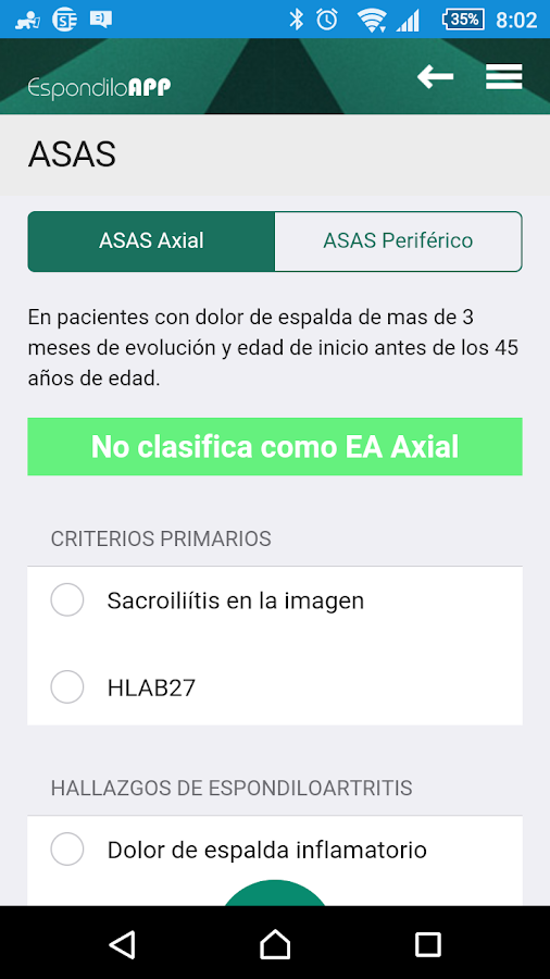 Espondilo app android apps on google play for Calculadora pasi