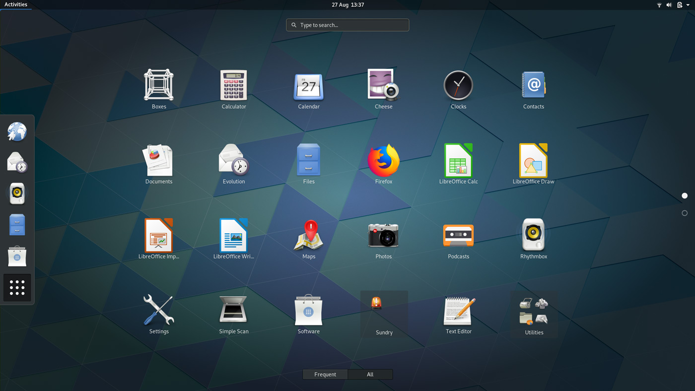 GNOME 3.30 Desktop