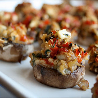 Mediterranean Stuffed Mushrooms.