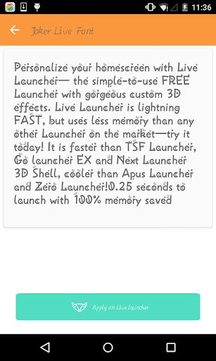 Stylish font 2- Live Launcher
