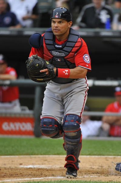 Photo: June 24, 2011; Chicago, IL, USA; Washington Nationals catcher Ivan Rodriguez (7) during the eighth inning at U.S. Cellular Field. The White Sox beat the Nationals 3-0. Mandatory Credit: Rob Grabowski-US PRESSWIRE