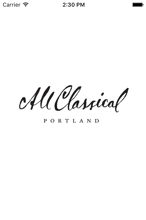 All Classical Portland App- screenshot