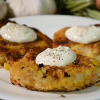 Leftover Mashed Potato Vegetable Cakes.