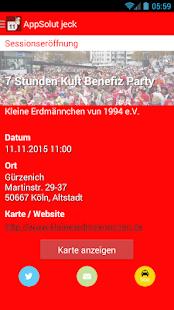 AppSolut jeck! Kölner Karneval - náhled