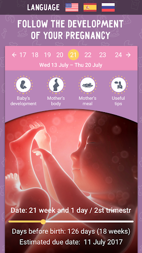 Pregnancy Calculator and Tracker app app (apk) free download for Android/PC/Windows screenshot