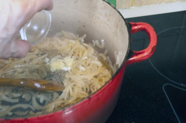 Add the garlic and caraway seeds, and stir until the garlic becomes fragrant, about...