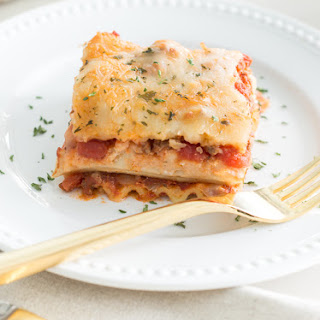 Favorite Two-Layer Lasagna Recipe (with ground beef).