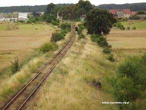 Photo: Widok na dawną stację w wiaduktu DK 3 jeszcze niedawno widok ten uzupełniał semafor z tarczą