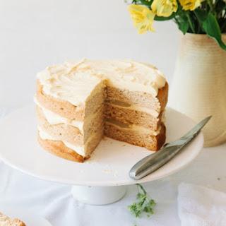 Vegan Elderflower Cake with Lemon Curd & White Chocolate Frosting.