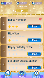 Gold Piano Tiles 2018 : Feel The Gold Tiles - náhled