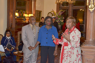 Photo: Clarence and Gail Smith with Rev. Dr. Valerie Oliver-Durrah, Pres and CEO NTAC