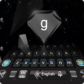 Dark High Tech Universe Star Keyboard Steel Theme