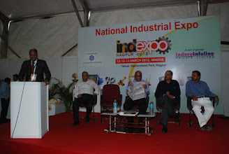 Photo: Welcome Speech by Mr. R.K. Agrawal(MD) Indore Infoline Pvt. Ltd.