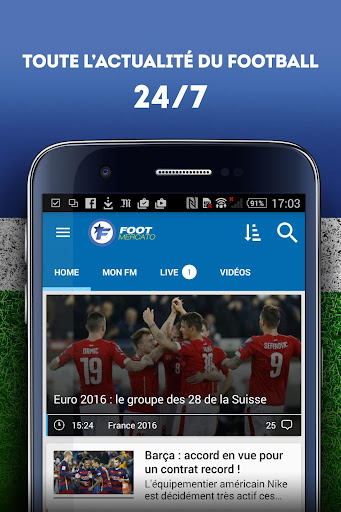 Foot Mercato : transferts, ru00e9sultats, news, live 3.6.10 screenshots 1