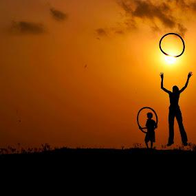 Playing with ring by Suman Rakshit - Babies & Children Children Candids
