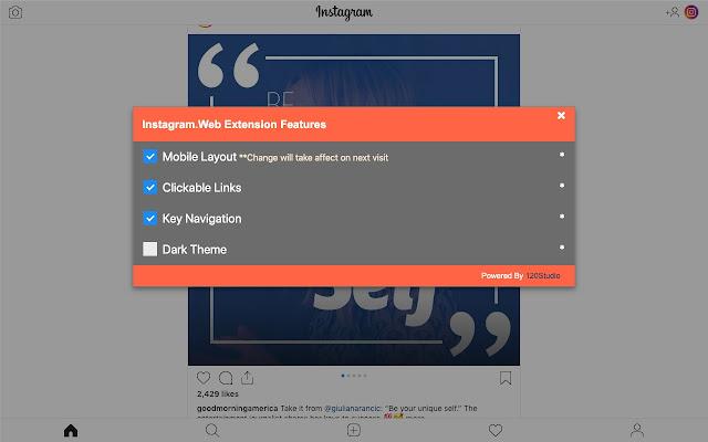 Extension for Instagram