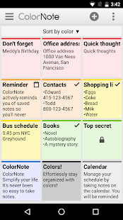 ColorNote Notepad Notes Screenshot