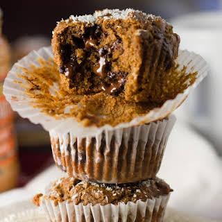 Vegan Peanut Butter Blackstrap Molasses Muffins.