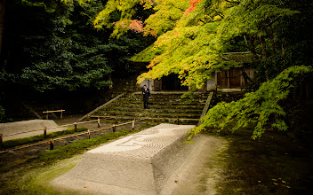 """Photo: This photo appeared in an article on my blog on Aug 24, 2013. この写真は8月24日ブログの記事に載りました。 """"Entrance Path to Kyoto's Honen'in Temple"""" http://regex.info/blog/2013-08-24/2303"""