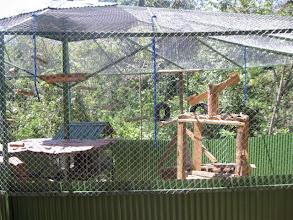 Photo: Monkey enclosure at the sanctuary