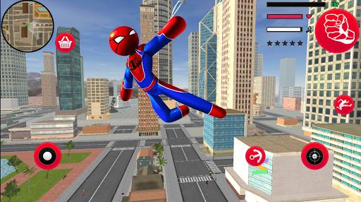 Frog-Spider StickMan Rope Hero Gangster Vegas  screenshots 4