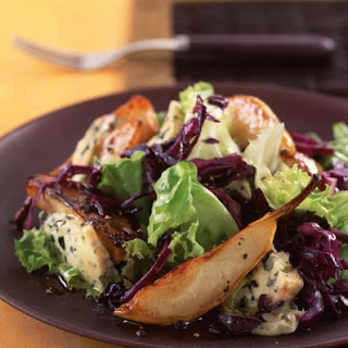 Warm Pear and Blue Cheese Salad