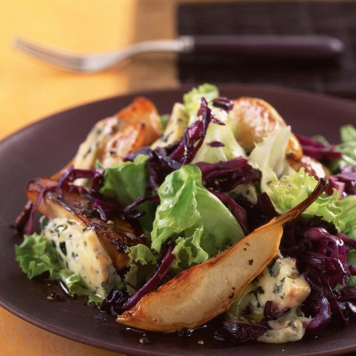 Warm Pear and Blue Cheese Salad Recipe