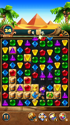 Jewels Treasure : Puzzle match 3  captures d'écran 6