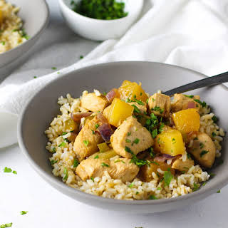 Pineapple Chicken Meal Prep Bowls.
